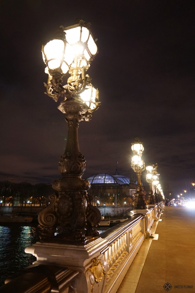 The Grand Palais seen from the Pont Alexandre III in Paris