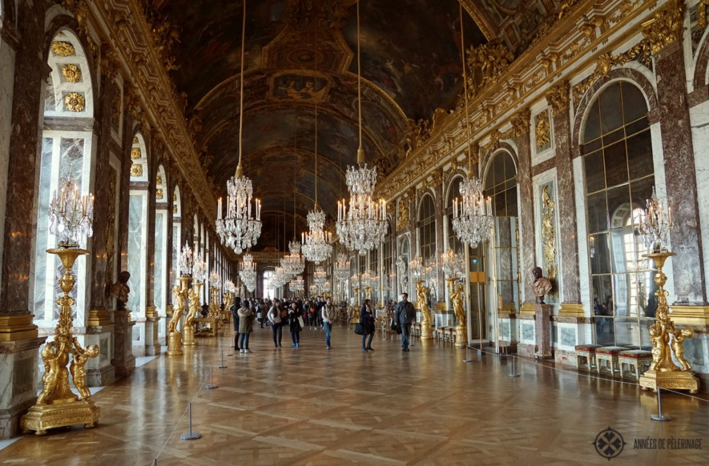 Hall of Mirrors in Versailles castle, Paris