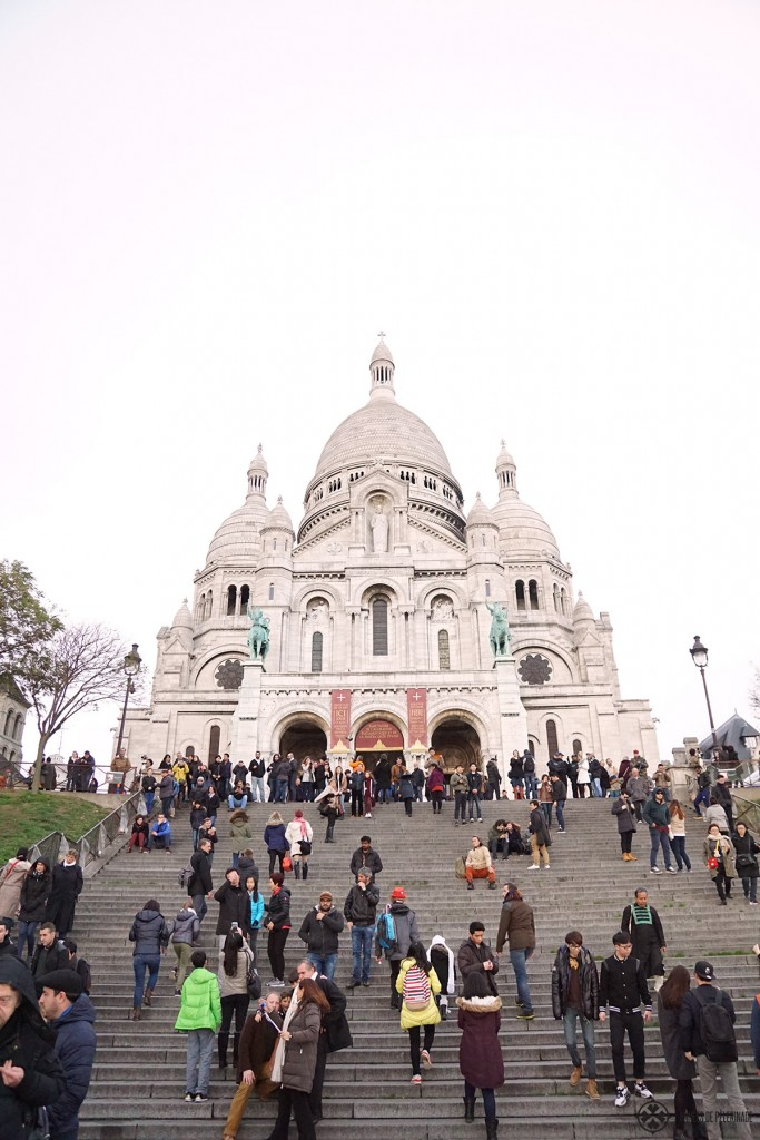 Sacre-Coer abutting Montmartre in Paris
