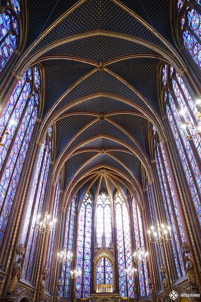 The outstanding stained-glass windows of Saint-Chapelle in Paris. Of all the things to do in Paris, this really is my favorite spot