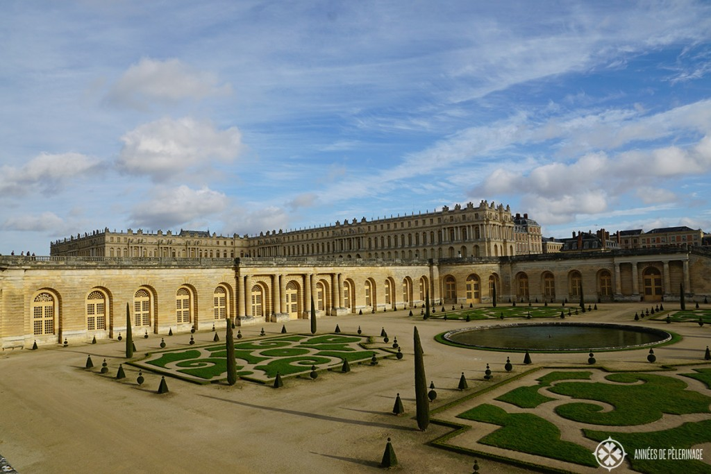 Versailles castle in Paris seen from the lower teraces