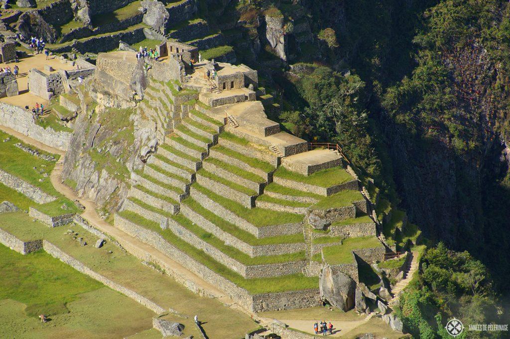 The sacred plaza around the Intihuatana stone in Machu Picchu