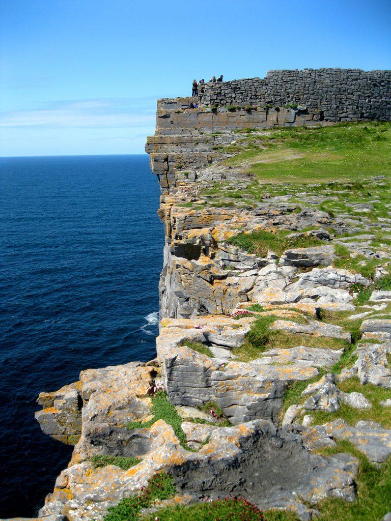 Cliffs at Dún Aonghasa on the Aran Islands, Ireland