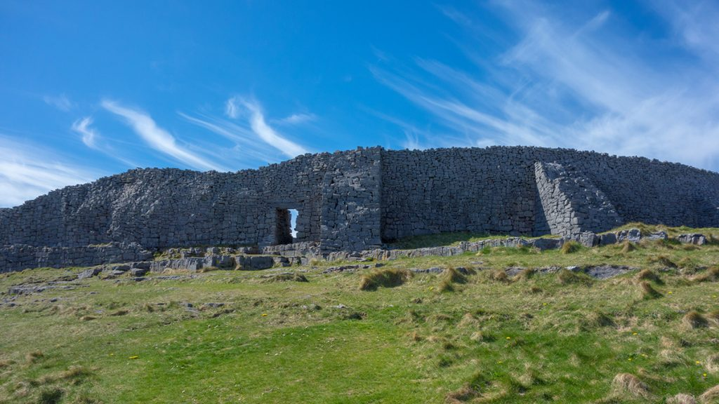 The ancient fortress of Dún Aonghasa on Inishmore, Ireland