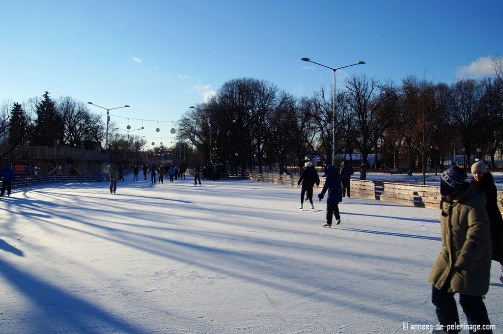 Ice Rink in St. Petersburg - a good option on new year's even during russian daytime