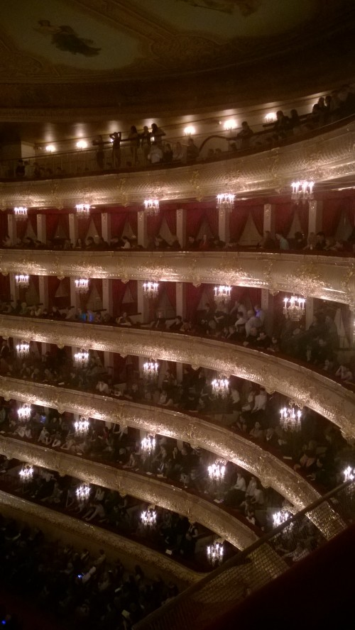 Number 4 on your list of things to do in moscow: A performance in the Bolshoi theater