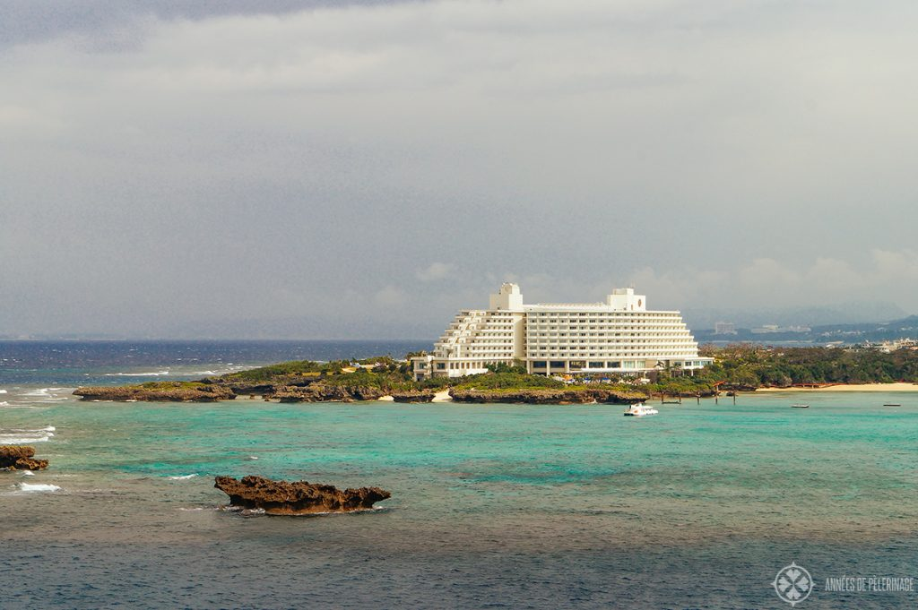 ANA InterContinental Manza Beach Resort hotel - if you are wondering where to stay in Okinawa, this is probably where most tourists look first.