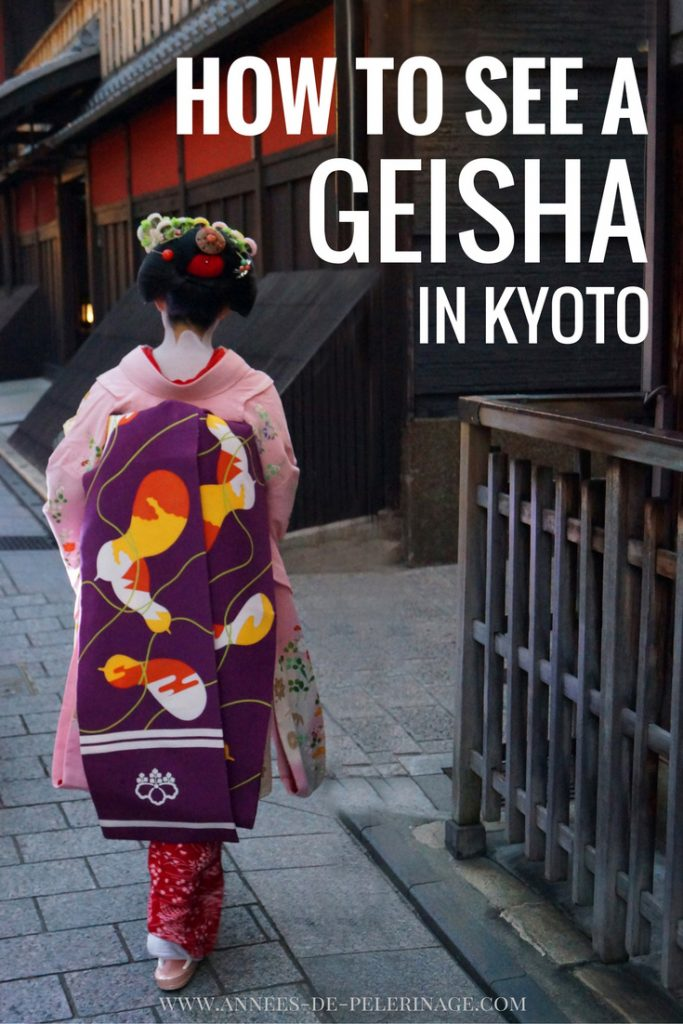 How to see a real geisha in Kyoto. The famous entertainers are rare, but it is not impossible to spot a maiko or a geiko in the Hanamachi
