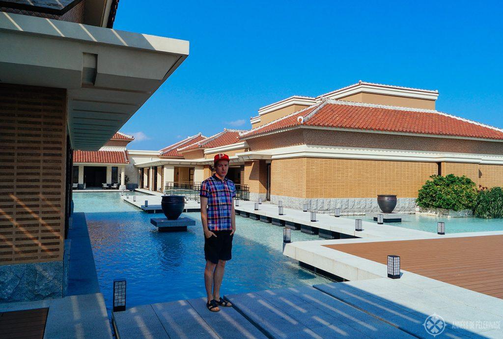 The ritz Carlton Okinawa and its beautiful water terraces
