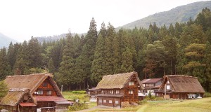 The Unesco World Heritage site of Shirakwa-go in Japan, with its ancient thatched farm houses.