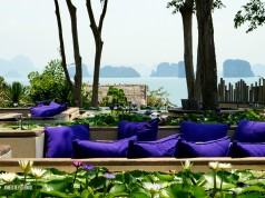 The bar of the six senses luxury hotel in Koh Yao Noi