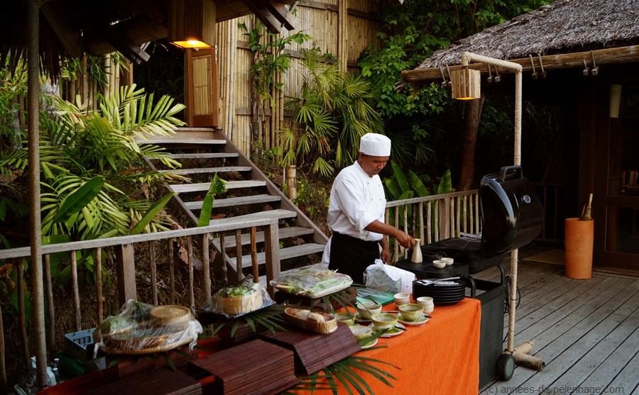 barbeque at six senses koh yao noi