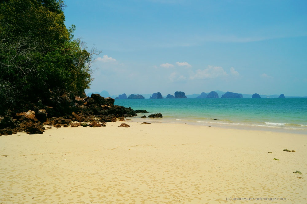 View from the beach at Six Senses Koh Yao Noi