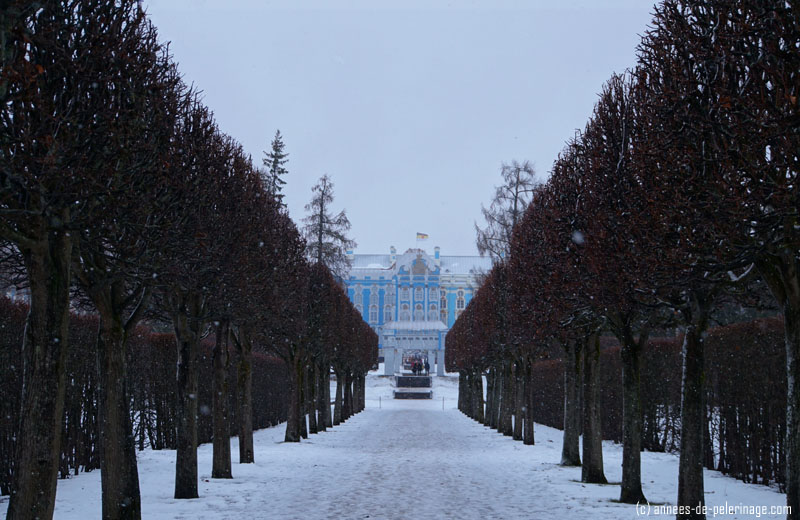 View on the catherine palace from the park side