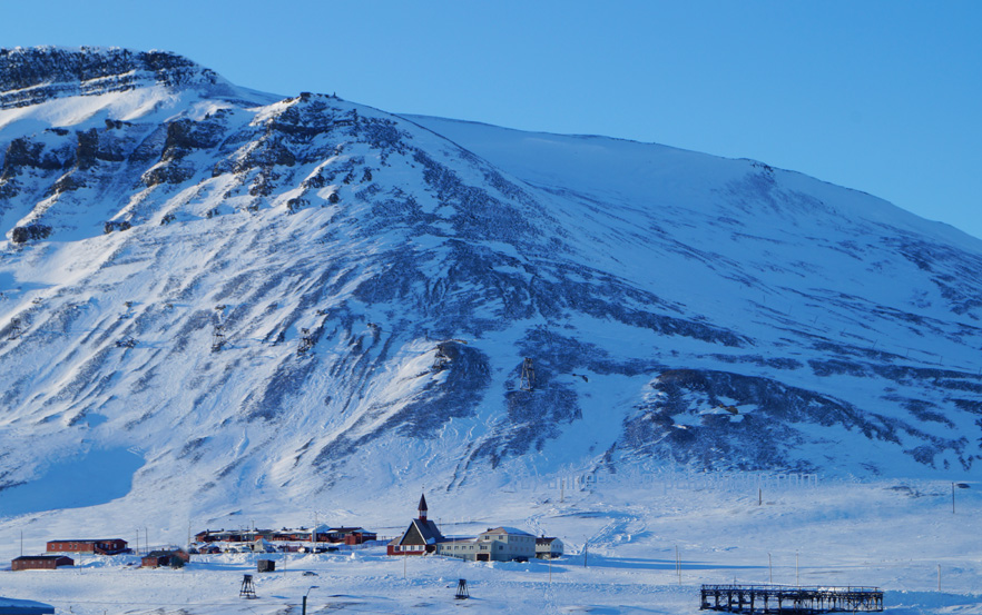 the most northern church in the world located up a hill in longyearbyen, spitsbergen