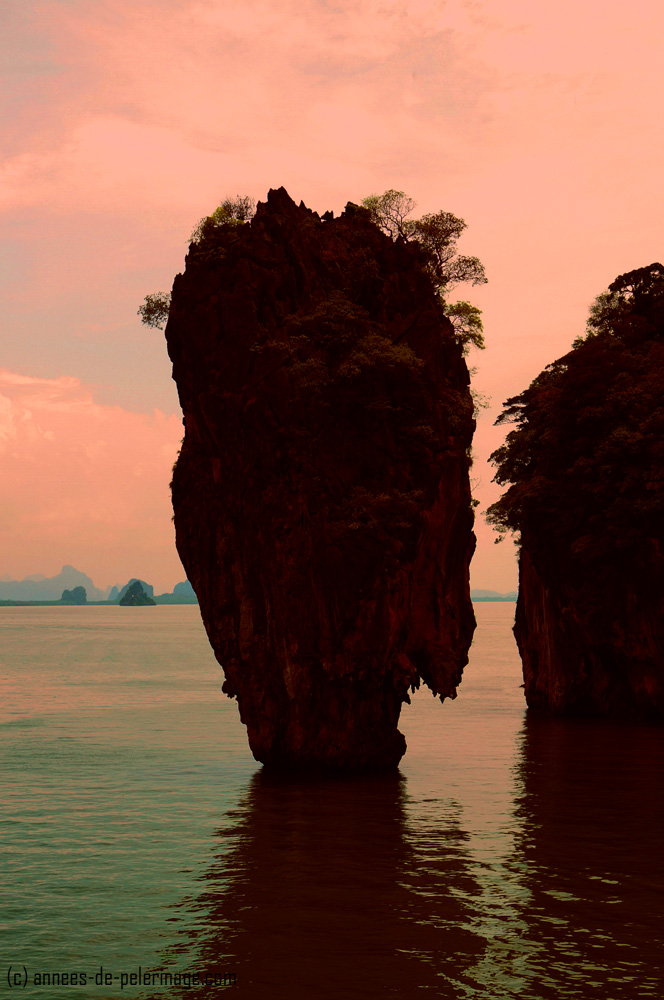 james bond island at dusk - Khao Phing Kan