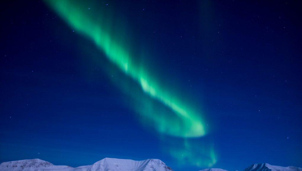Seeing the northern lights in SPitsbergen, Svalbard