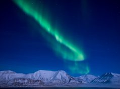 Seeing the northern lights in SPitsbergen, Svalbard