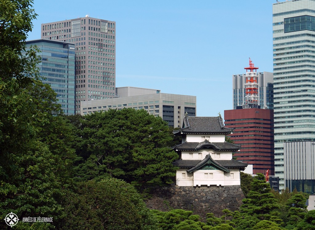 Tokyo's old name is Edo. The only part that survives today is found in the imperial castle. Here you can still see that part of japanese history.