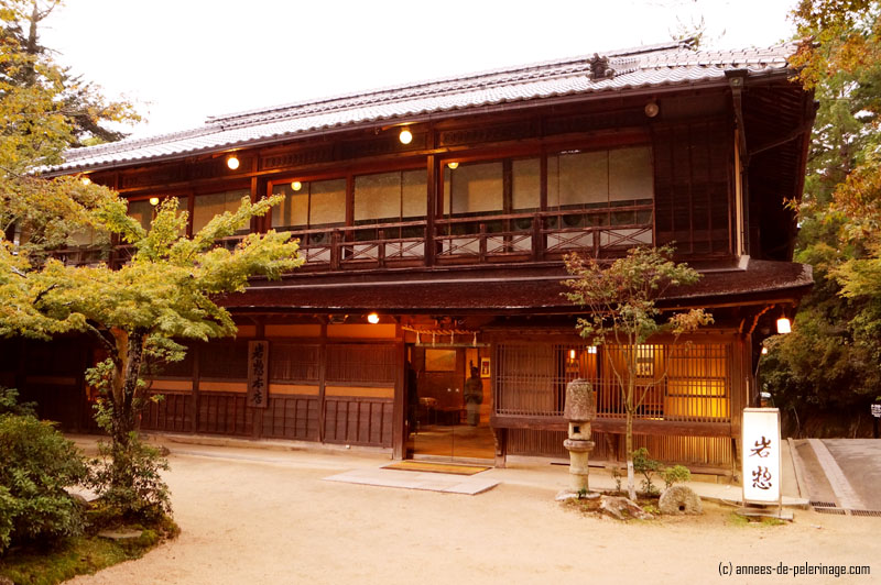 Traditional japanese ryokan in miyajima