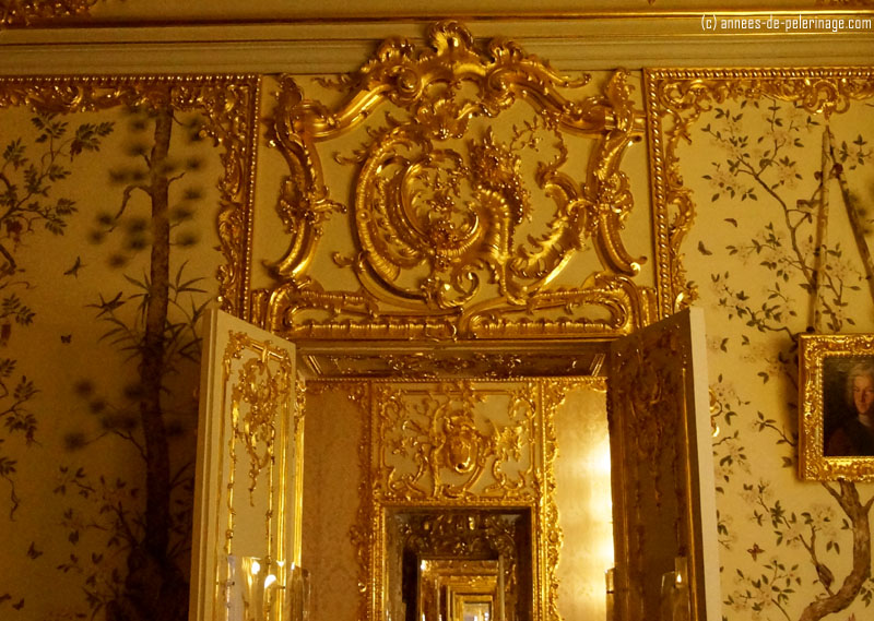View through the Rastrelli's golden enfilade in Catherine palace
