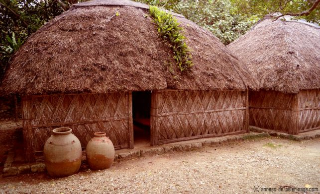 The traditional okinawan huts in the open air museum are one of the top tourist attractions in the north of the island
