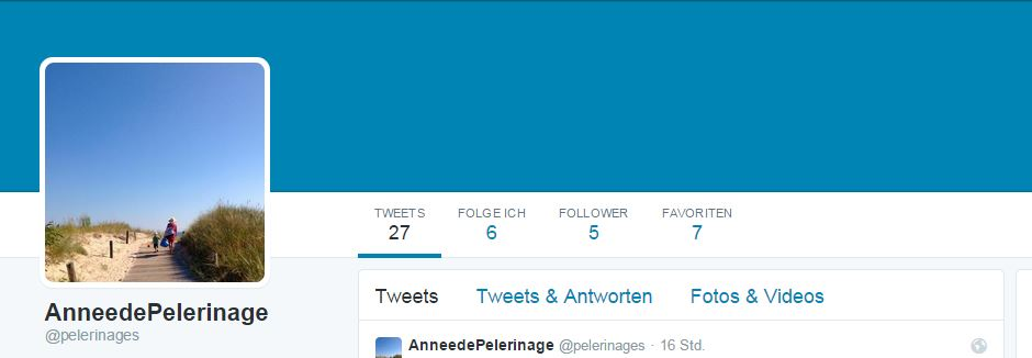 Twitter account of annees-de-pelerinage