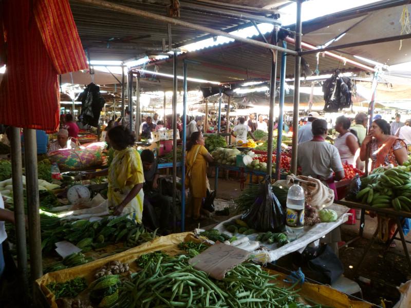 The market in Centre Flacq in Mauritius