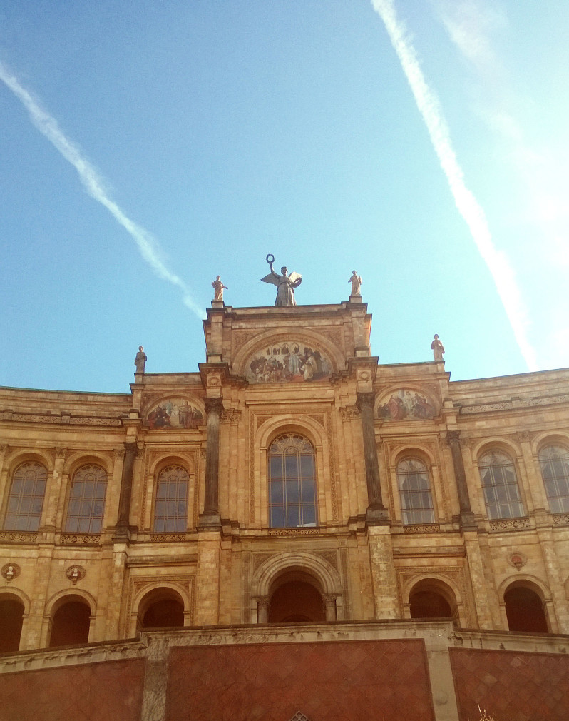 A close up picture of the Maximilianeum in Munich - home to the bavarian parliament