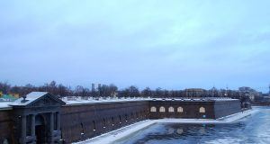 Peter and paul fortress St petersburg in winter