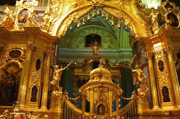 Holy door of the golden altar inside Peter and Paul Cathedral