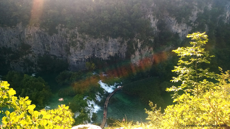The deep canyons of Plitvice Lakes National Park in Croatia