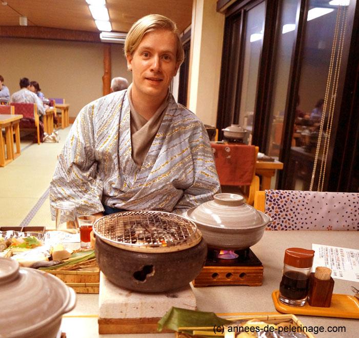 dinner at Takaragawa-onsen-onsenkaku ryokan japan