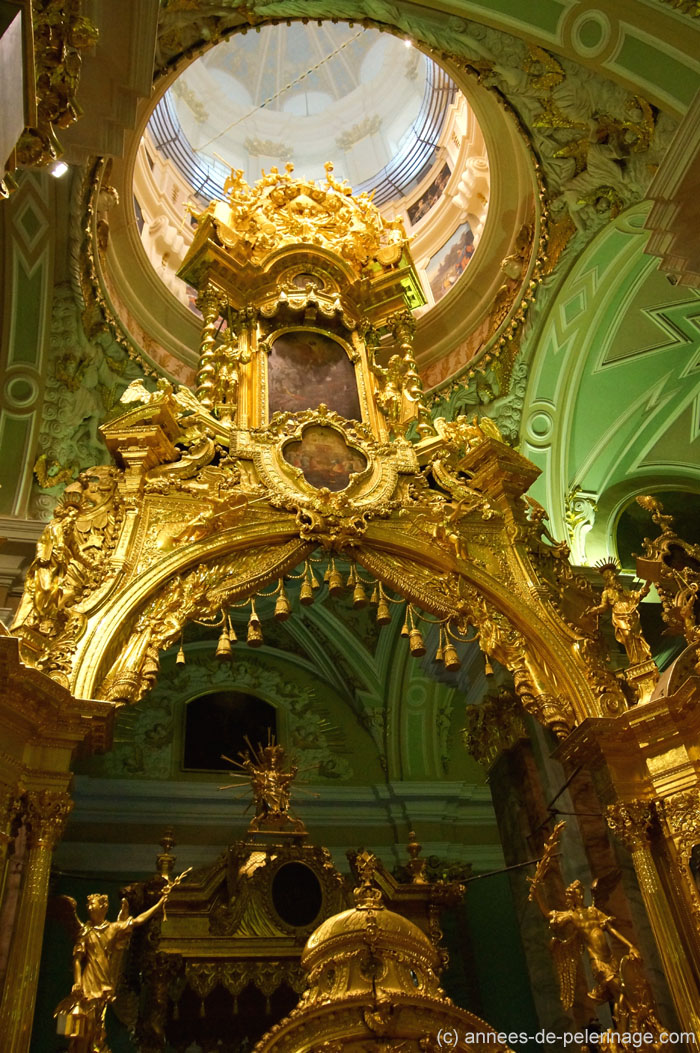 The golden high altar of Peter and Paul cathedral