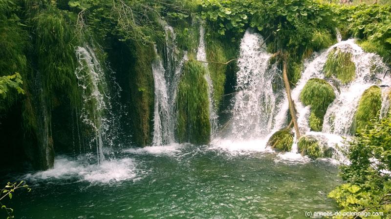 green waterstep in Plitvice Lakes National Park Croatia