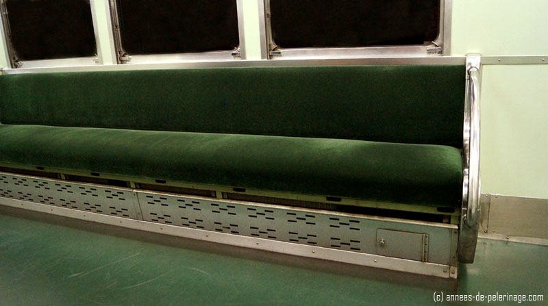 A stylish reason: the green benches of the Subway in Kyoto