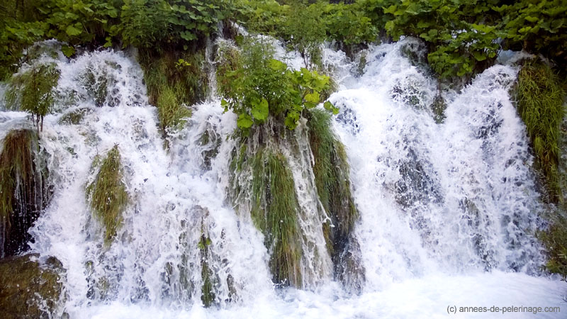 large waterstep with gargling water at Plitvice Lakes National Park in Croatia