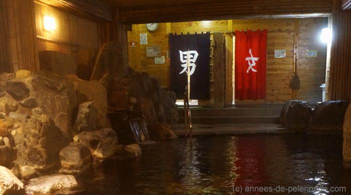 onsen locker room at Takaragawa-onsen-onsenkaku, japan