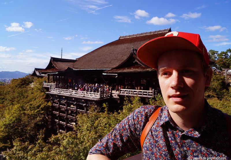 me in front of kiyomizu-dera in Kyoto