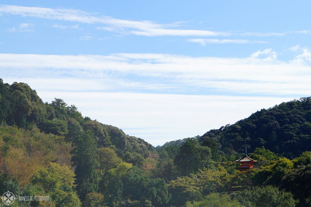 The beautiful pagoda close to Kiyomizu-dera in Kyoto, Japan