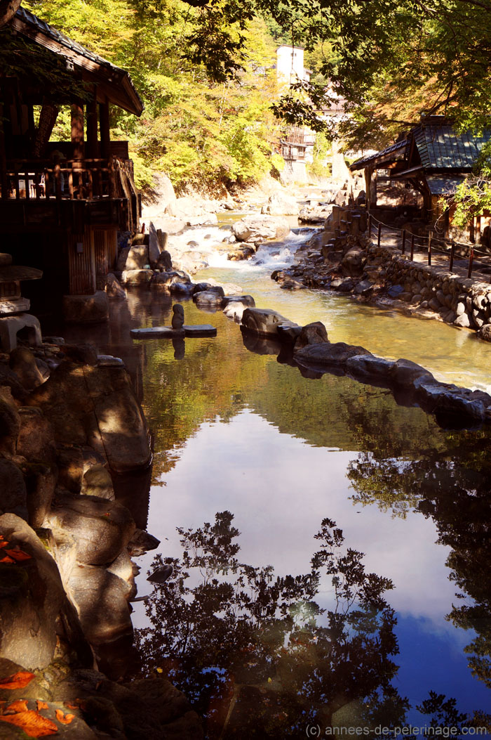 The rotenburo at the mountain stream in Takaragawa-onsen in Minakami, Japan