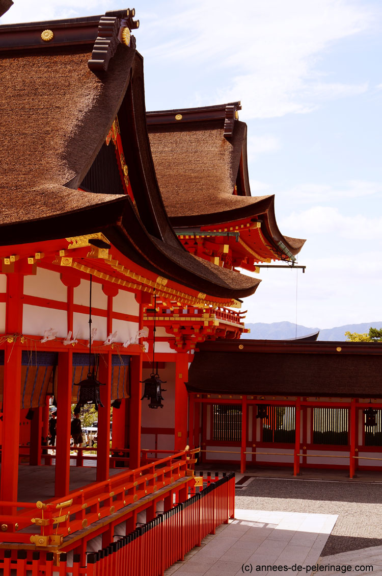 shrine building at fushimi inari shrine in Kyoto, Japan