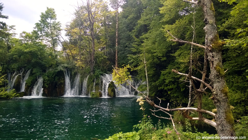 A small waterfall in Plitvice Lakes National Park Croatia