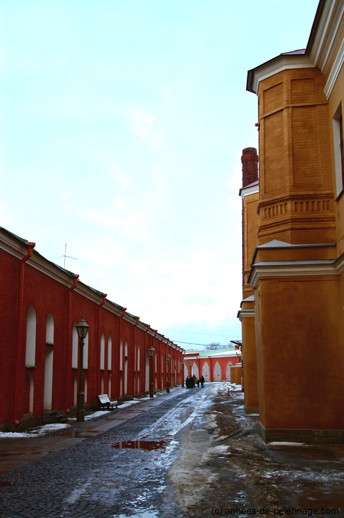 The streets in front of the Trubetskoy Bastion Prison at Peter and Paul Fortress