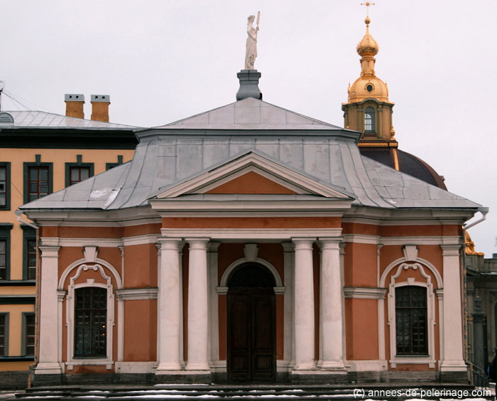 The ticket office at Peter and Paul Fortress in St. Petersburg