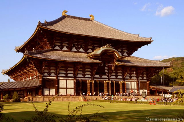 The biggest wooden structure in japan - todaiji temple in nara, japan