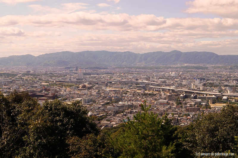 The breath-taking view over Kyoto from the top of Mount Inari at Fushimi Inari Taisha