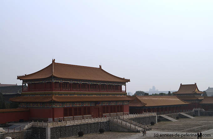 The gate of Auspicious Harmony in the Inner Court of the Forbidden City in Beijing