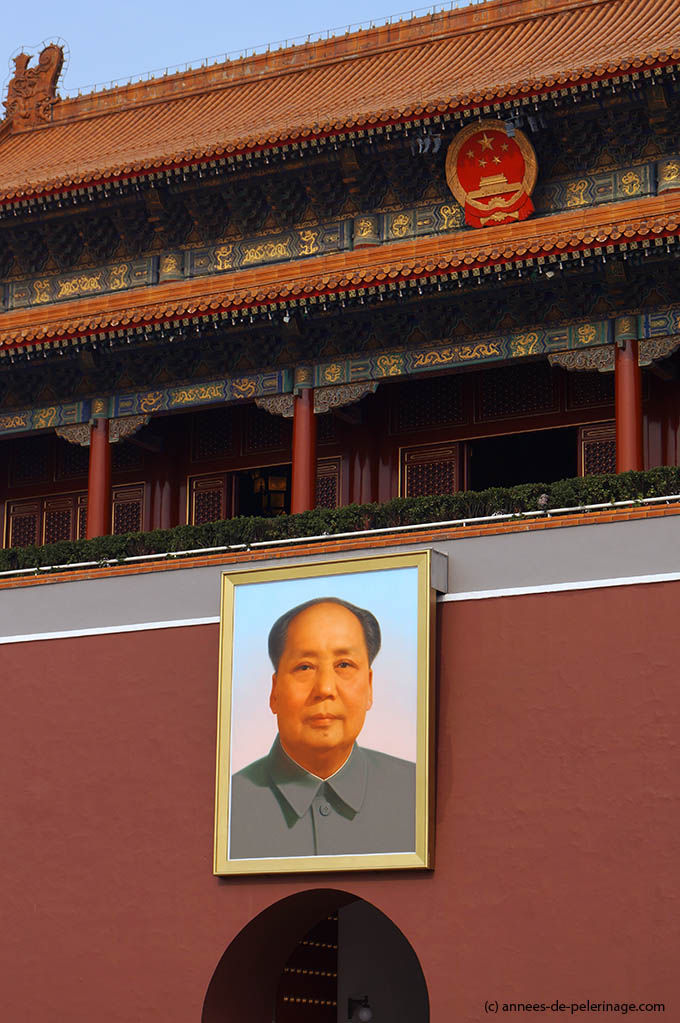 Mao Portrait at the entrance to the Forbidden City in Beijing