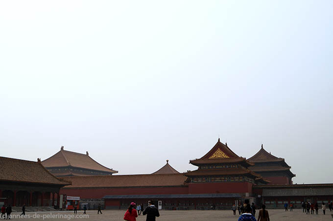 The Palace of Tranquil Longevity paralel to the central axis of the Forbidden City in Beijing